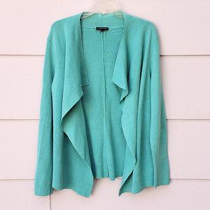 Eileen Fisher Silk-Blend Interlock Jacket Cardigan